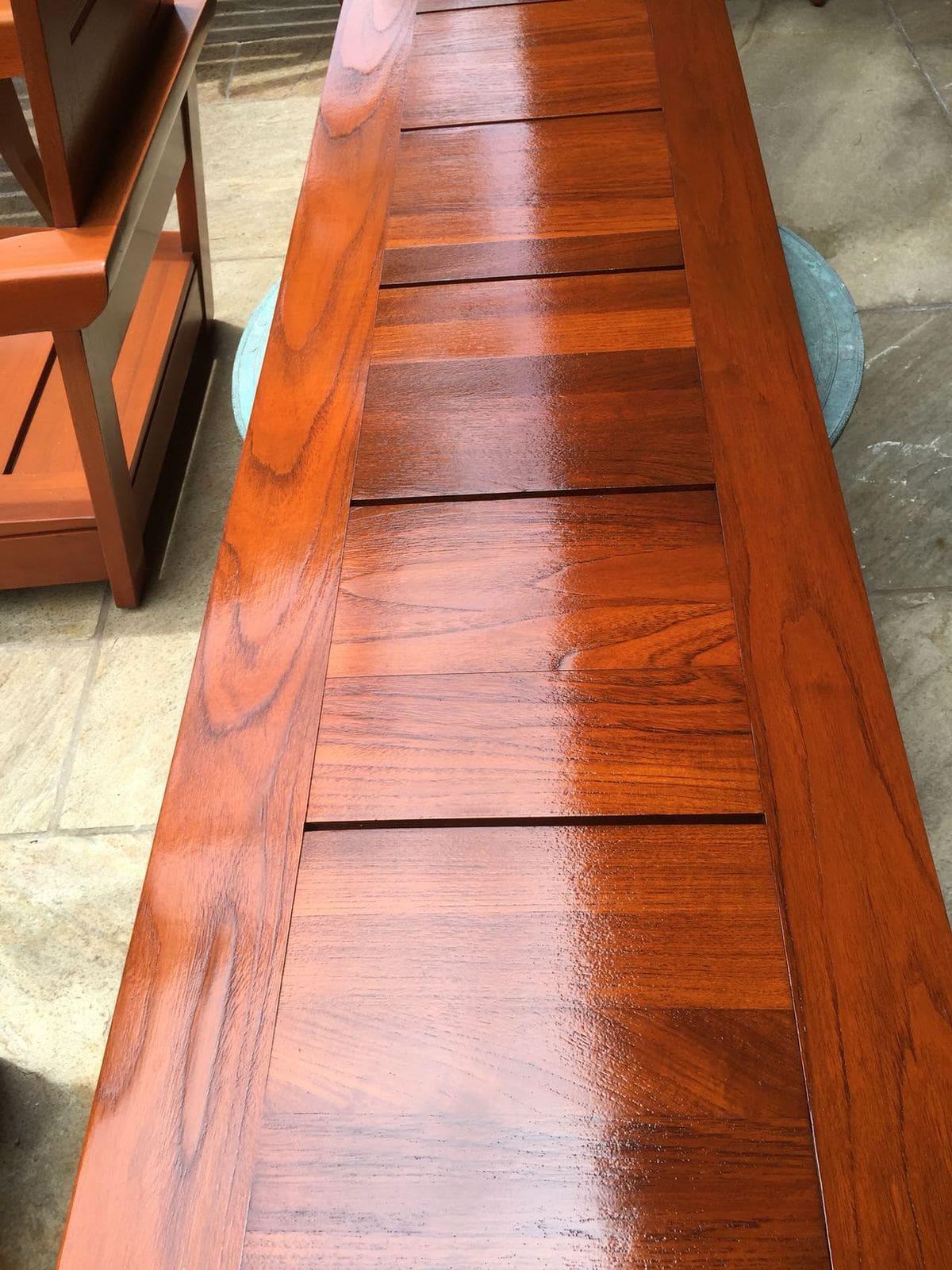 teak long table